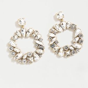 NEW J. CREW Mixed Crystal Circle Statement Earring